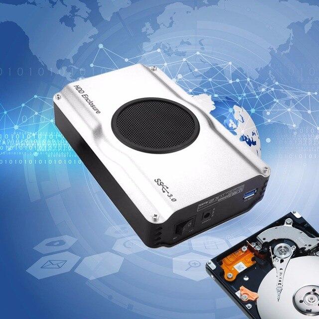 3.5 дюймов 393U3 Алюминиевый Корпус 5 Гбит SuperSpeed USB 3.0 для SATA HDD Корпус Корпус Внутренний Холодный Вентилятор
