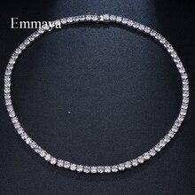 Emmaya bijoux géométriques pour femmes, collier de luxe en Zircon cubique, collier à la mode, brillant pour cadeau de mariage