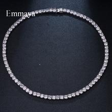Emmaya colares de zircônia cúbica, redondos, de luxo, marca de luxo, joias geométricas, para mulheres, brilhante, presente para casamento e festa