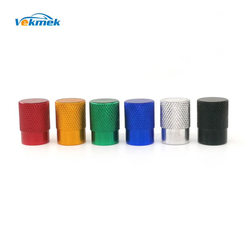 4pcs Cylinder Knurling Aluminum Tire Valve Stem Caps for Car Bike Motorcycle for US Valve Car-styling Parts Acc. Freeshipping