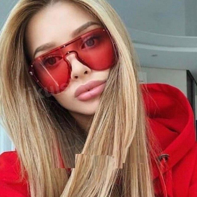 2019 Мода Cheetah заклепки негабаритных солнцезащитные очки для Для женщин Брендовая Дизайнерская обувь Винтаж Квадратные Солнцезащитные очки Для мужчин женские красные оттенки UV400