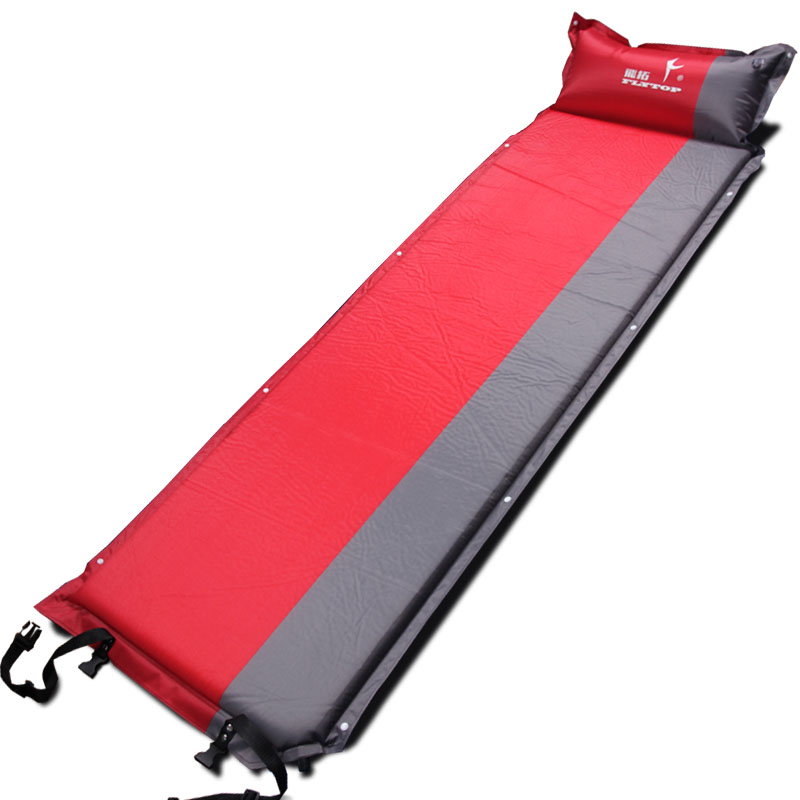 2017 Hot sale (170+25)*65*5cm single person automatic inflatable mattress outdoor camping fishing beach mat <font><b>on</b></font> sale/ wholesale