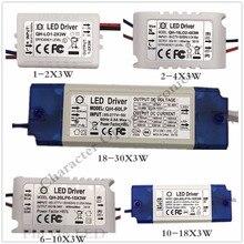 5PCS 1-2X3W 2-4X3W 6-10X3W 10-18X3W 18-30X3W LED Driver Power Supply Transformer Light F 3w Chip