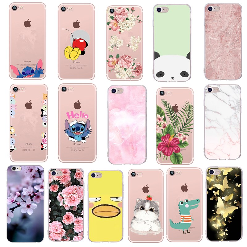 Soft Phone Cover For Coque iphone 6 7 Case Stitch Mickey Silicone TPU Thin Shell Funda