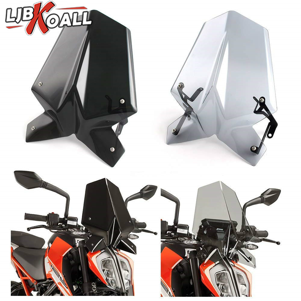 For Duke390 Duke 125 Motorcycle Sports Windshield WindScreen Visor Viser Fits For KTM Duke 390 125