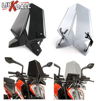 For Duke390 Duke 125 Motorcycle Sports Windshield WindScreen Visor Viser Fits For KTM Duke 390 125 2017 2018 Double Bubble