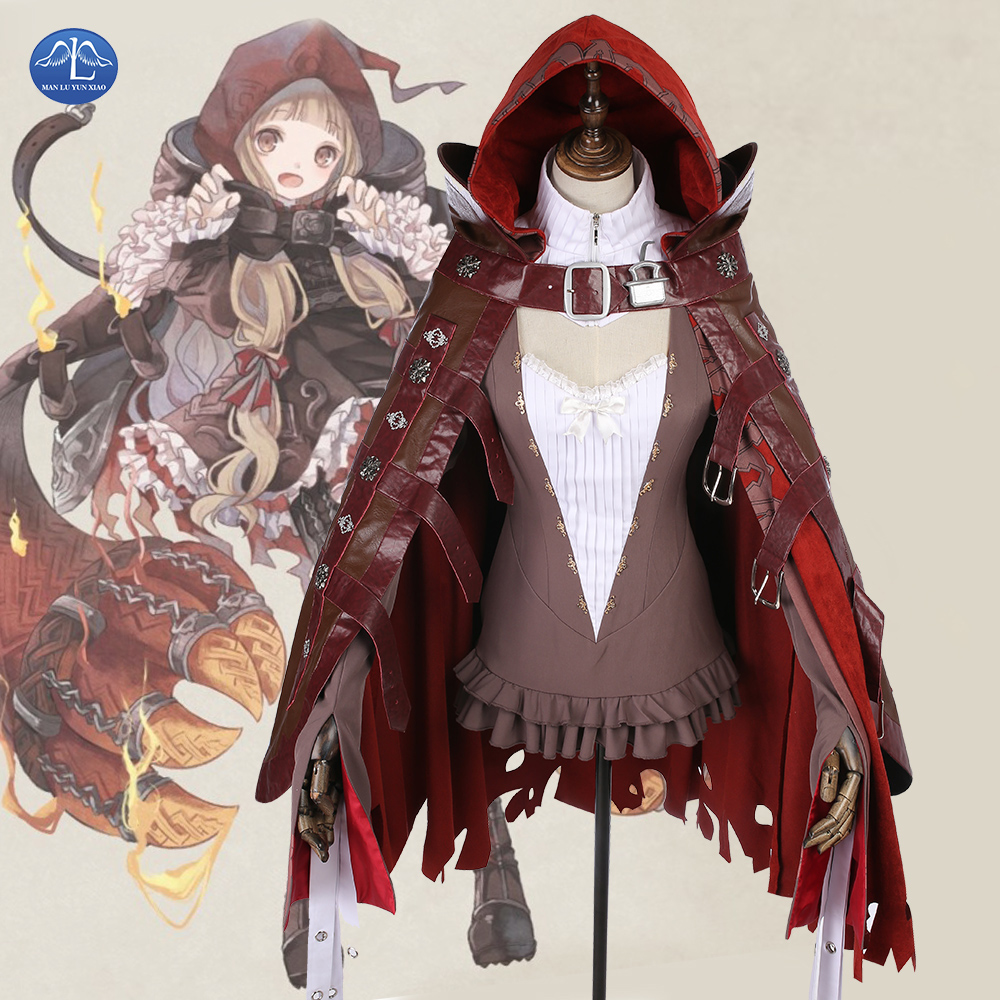 MANLUYUNXIAO New Anime Costume SINoALICE Red Riding Hood Cosplay Costumes Lolita Women Fancy Halloween Party Dress Full Set