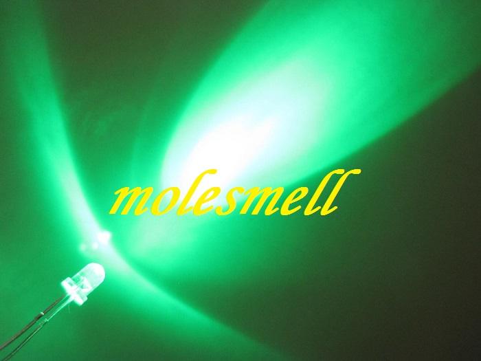 3mm round green