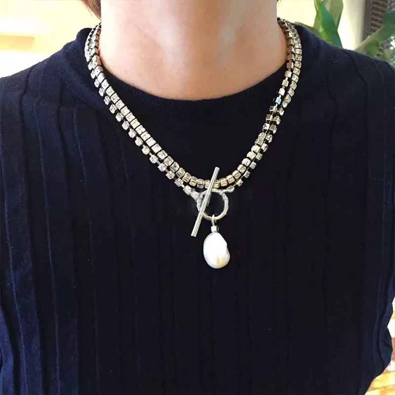 7Sanyu 2019 Fashion luxury jewelry needle brass new pearl Transparent net tassel party dinner part hot