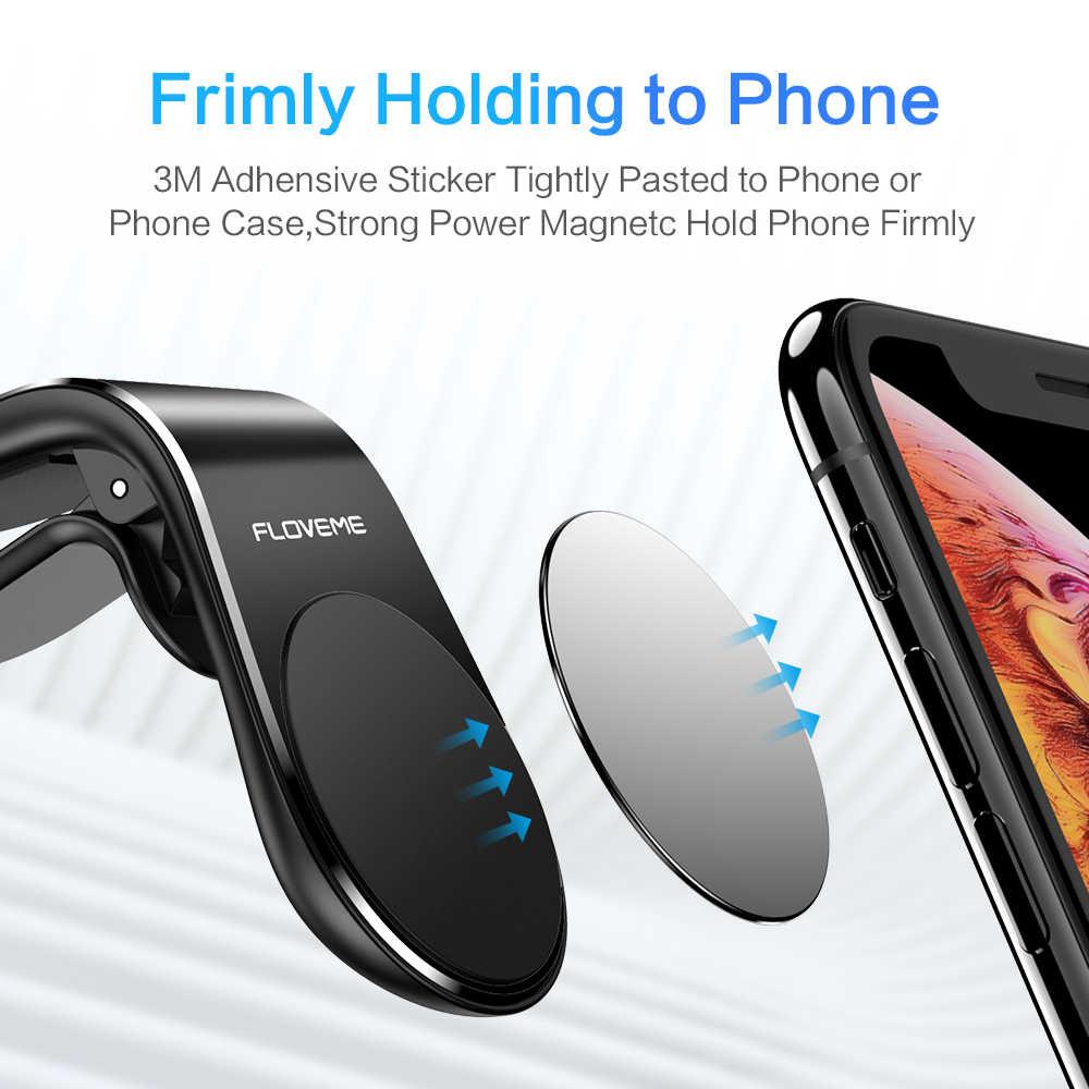 FLOVEME מגנטי רכב טלפון מחזיק אוויר Vent הר מגנט נייד טלפון Stand מחזיק עבור iPhone סמסונג Xiaomi טלפונים חכמים במכונית