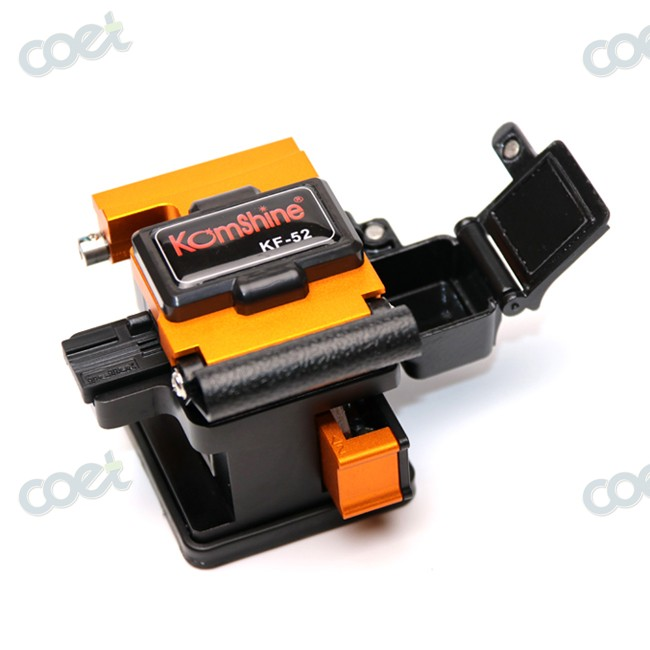 One-hand operation KOMSHINE KF-52 Optical Fiber Cleaver with 24 surface<0.5 degree with 4 stainless steel pads