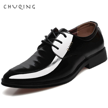 CHUQING Leather Concise Men Wedding Business Dress Shoes Breathable Formal Basic Pointy Fashion