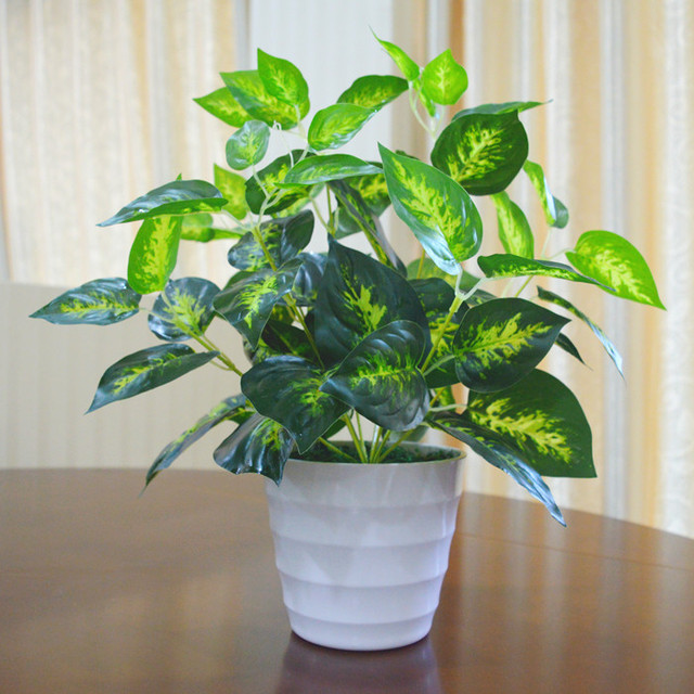 Xg Plants Indoor And Outdoor Decorative Plastic Pot Small Potted Plant Simulation False Green Flowers