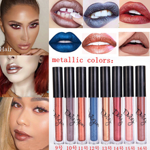 Hot Cosmetics Metallic Perlees Lipstick 16 Colors Beauty Batom Lips Gloss Matte Lipstick Metals Liquid Lips Lot Maquiagem