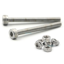 все цены на 50pcs M3x30mm Stainless Steel Allen Hex Socket Head Cap Fastener Thread Screw Bolts + 50pcs M3 Nuts онлайн
