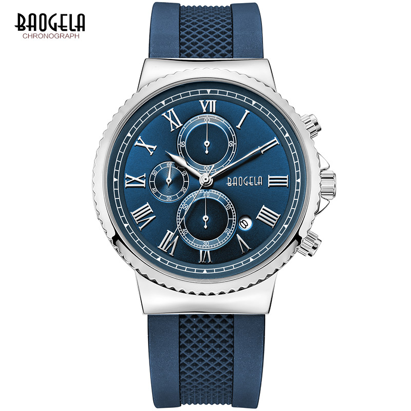 Baogela chronograaf quartz horloges voor heren jongens mode casual - Herenhorloges - Foto 3