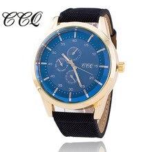 2017 ccq модные мужские часы кожаный ремешок мужской часы Повседневная Dal Роскошные Кварцевые часы Relogio masculino подарок 1588
