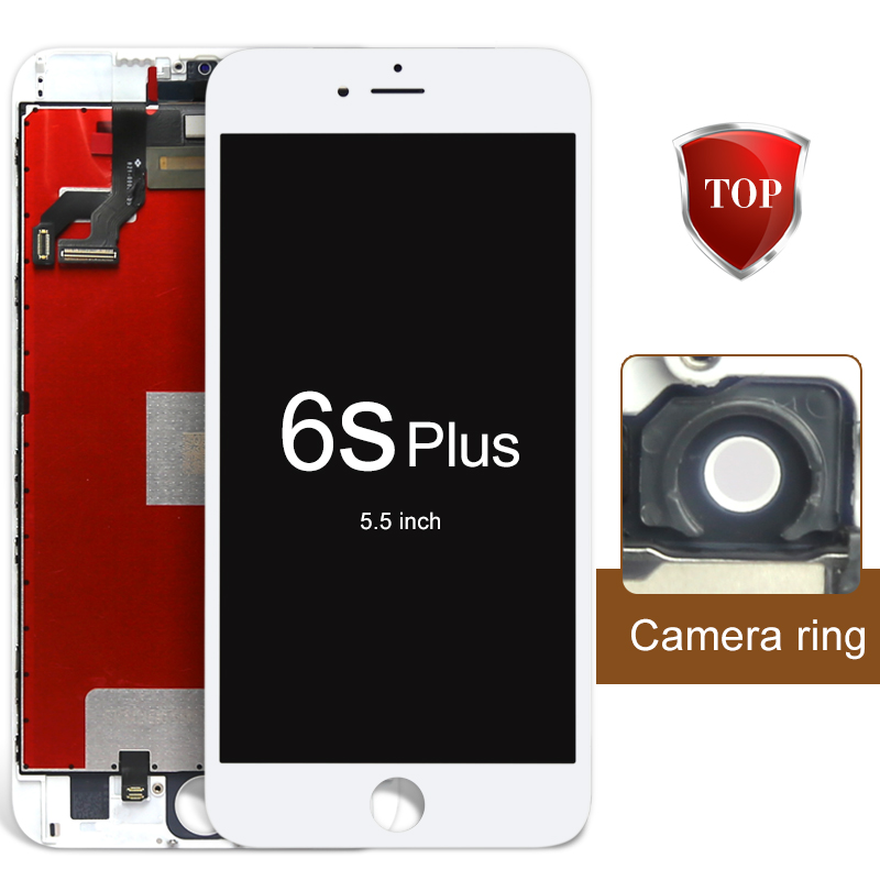 DHL 10pcs 5.5 inch For iPhone 6S plus LCD Display Touch Screen with Digitizer Assembly Black White Color with Warranty