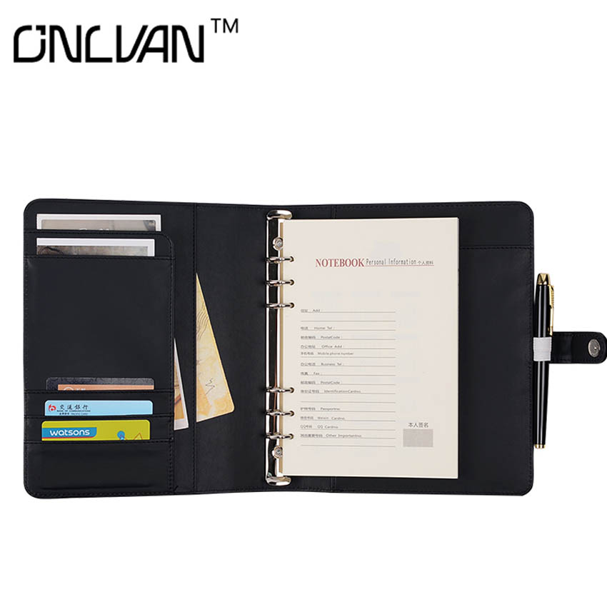 A5 Size Notebook Black Chancery Supplies Calendar/Planner/Agenda Stationery  Accessaries Business Travelers' Notebook  Sprial calendar 2017 a5 calendar handbook of efficiency for industry and commerce business notepad log can be customized logo