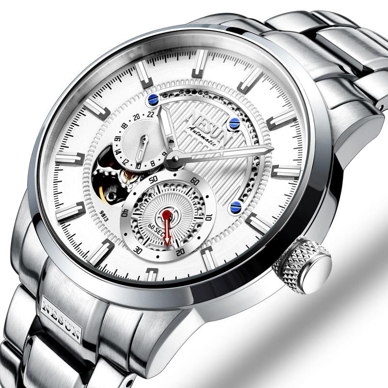 NESUN Watch Brand Automatic Mechanical 22 Jewels