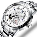 Роскошные брендовые швейцарские мужские часы NESUN  автоматические механические светящиеся часы relogio masculino  полностью из нержавеющей стали  ...
