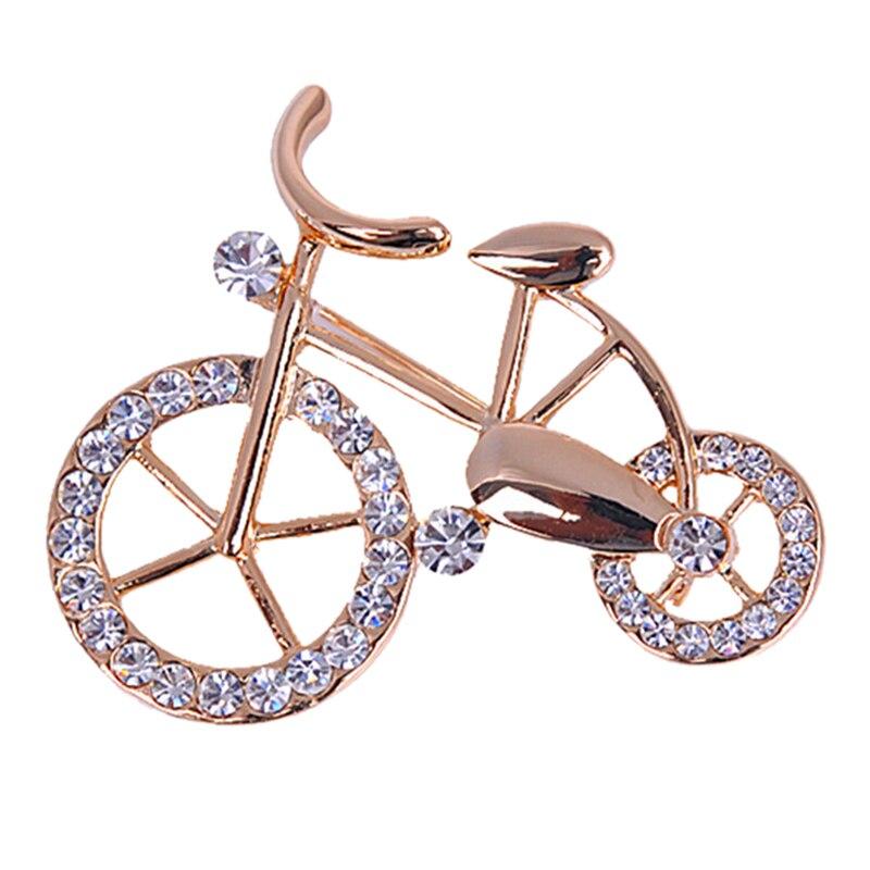 Hot Sale Rhinestone Bike Popular Twinkle Brooch Pins Unisex Jewelry Gift Shape