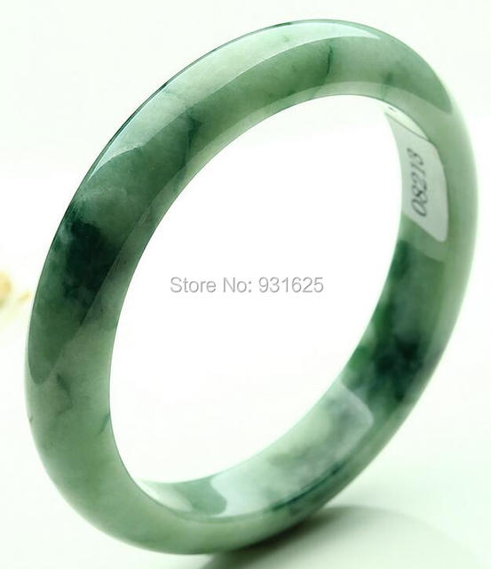 Natural Jadeite Green White Flower Floating Handmade Bangle Green Jade Woman's Bracelet Gift Bangles + certificate 58-62mm