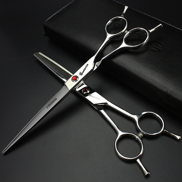 High Quality 7.0 Inch Japan Professional Hairdressing Scissors Hair Cutting Barber Shears Salon Equipment Pet Grooming Scissors