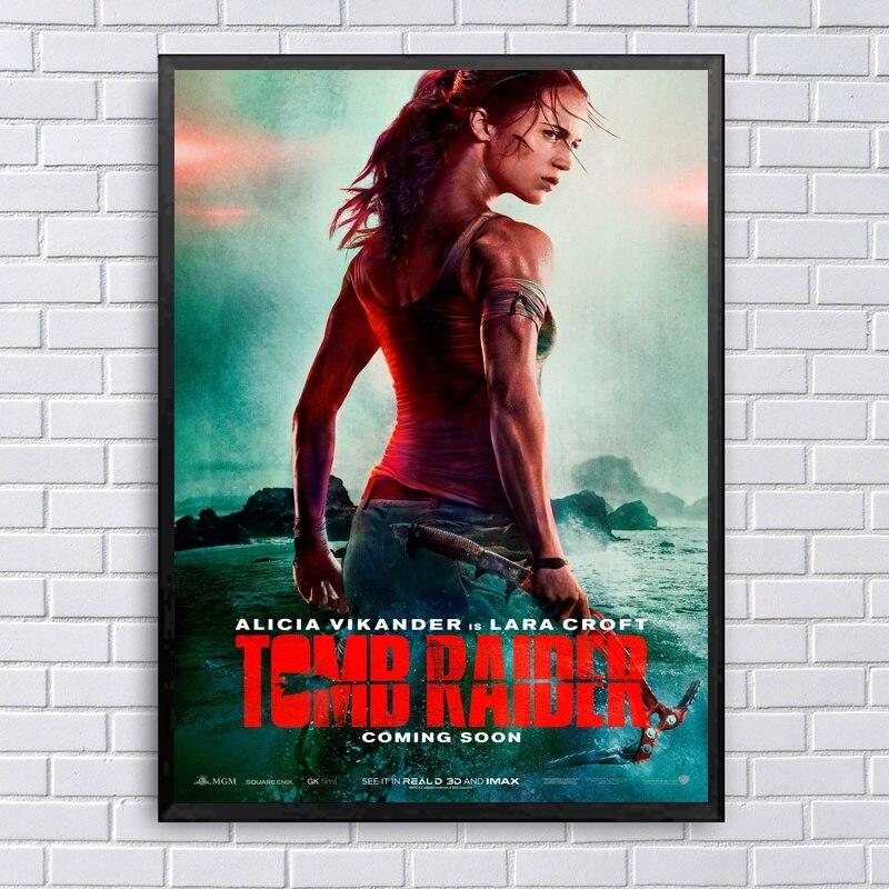 Rise Of The Tomb Raider Art Silk Fabric: Tomb Raider Movie Art Silk Fabric Poster Prints Home Wall