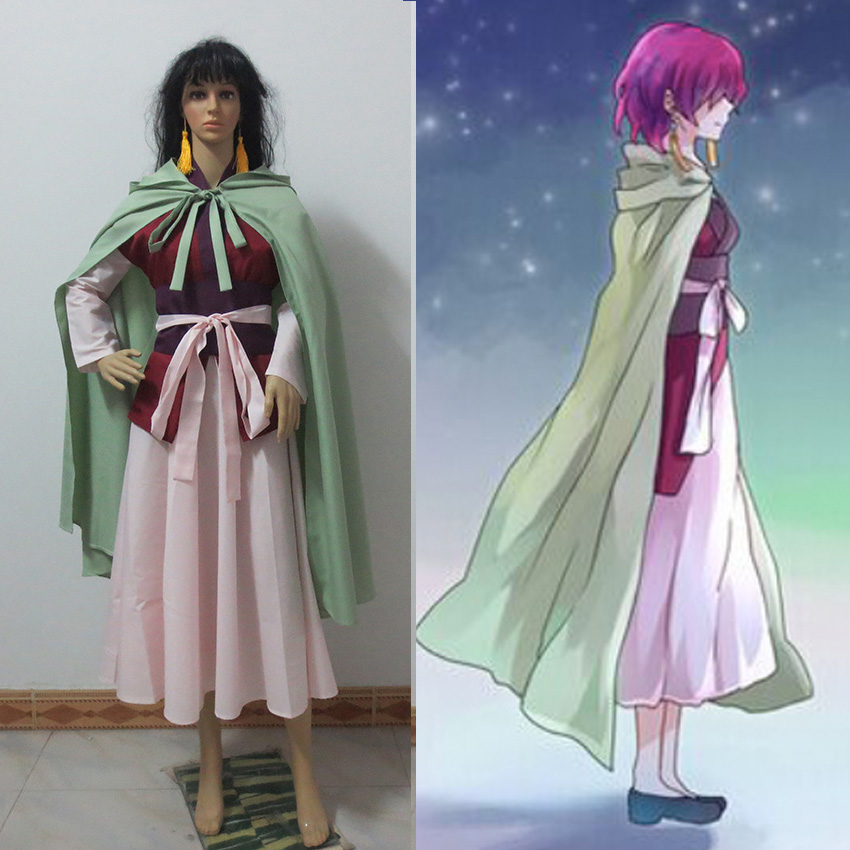 Anime Akatsuki no Yona Cosplay Costume Whole set Yona free shipping
