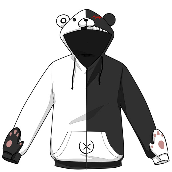 De Monokuma Président Veste Ronpa Costume Dangan Capuche X0UxSfcq