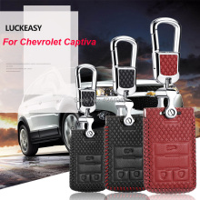 LUCKEASY Car Keychain Keyring Key Bag Fob Central Cover For Chevrolet Captiva 2015-2017
