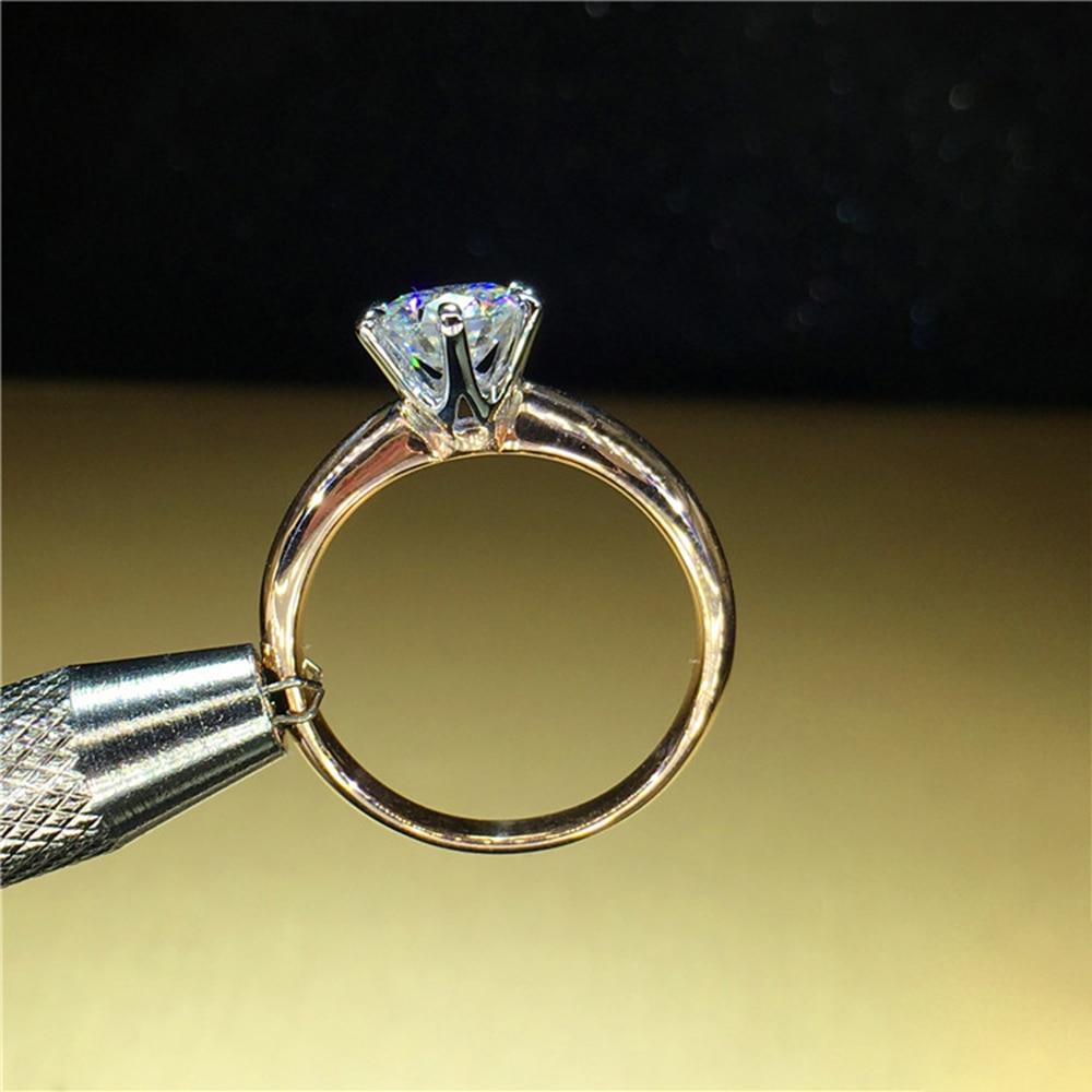 100% 18 K Au750 1ct Oro Giallo di Fidanzamento Moissanite Anello di Diamanti D VVS Con Certificato Nazionale di Colore Per Le Donne-in Anelli da Gioielli e accessori su  Gruppo 3