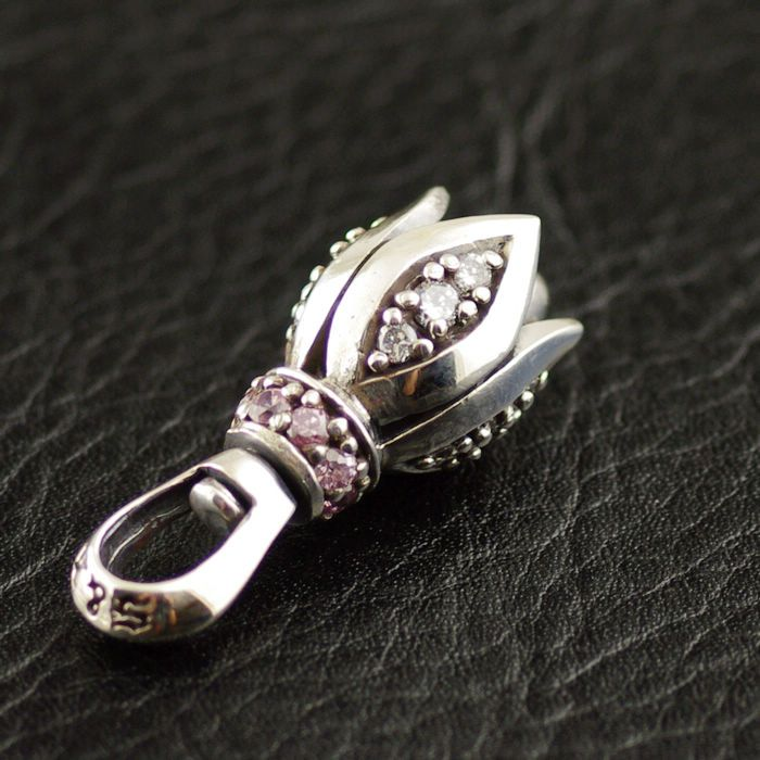 Маленький бутон лилии колокол Винтаж 925 чистого серебра Подвески
