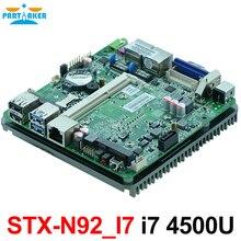 Безвентиляторный двойной гигабитный Ethernet Intel Haswell-U i7 4500U cpu nano материнская плата для intel nuc mini pc DC 12 V блок питания OEM
