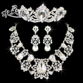 Upscale bridal jewelry bridal sets of chain crown three-piece suit wedding accessories, wedding jewelry Korean female 17