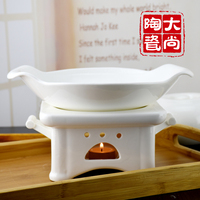 Creative ears anti hot dry boiler sets of alcohol candle heating small hot pot deep dish hotel restaurant home ceramics