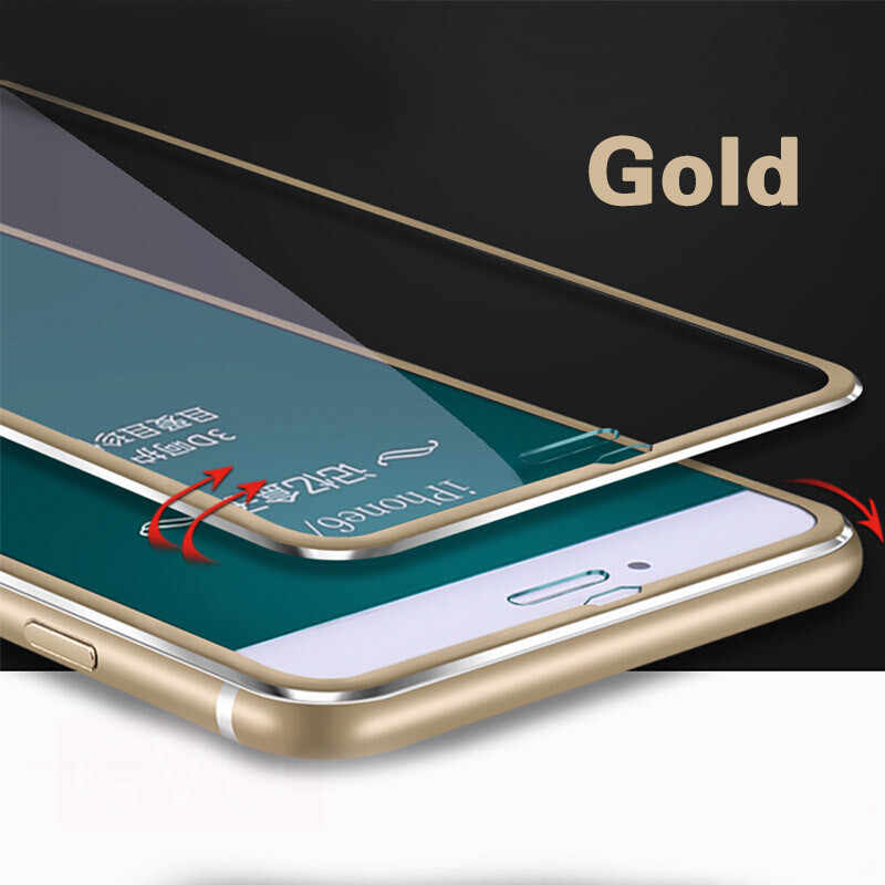 sports shoes cbb25 39af8 GVU Full Body Film Tempered Glass For iPhone X Glass 3D Metal Edge Screen  Protector For iPhone 5 5s 6 6s 7 8 Plus 10 Glass Film