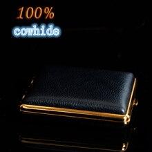 Kreative Zigarettenetui Box mit feuerzeug Box Farbe 100% rindsleder Zigarettenetui Rauchen Beutel für 20 Zigaretten