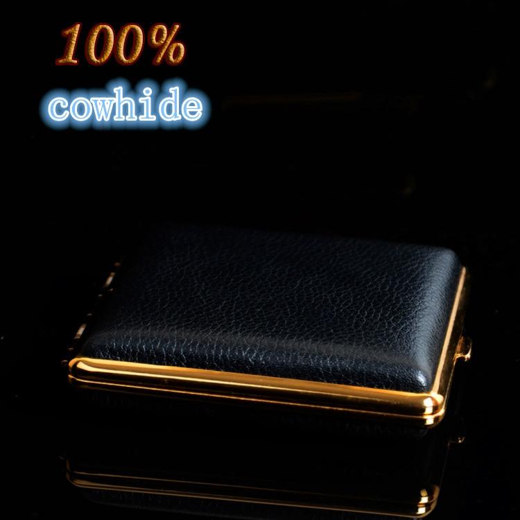 Creative Cigarette Cigarette Box Color 100% cowhide Leather s