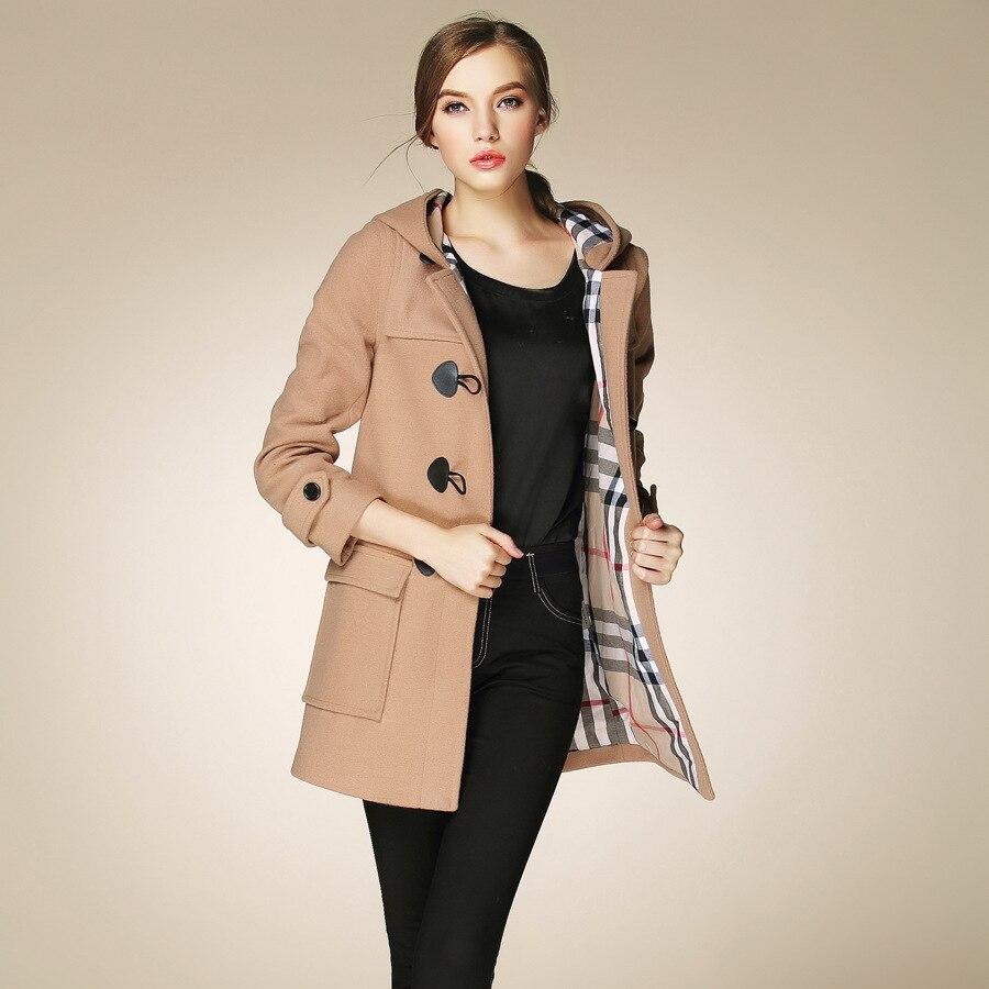 acheter pas cher d3366 6e5a1 Fasicat Duffle Coat Long Turn Down Collar Woolen Coat Wide ...