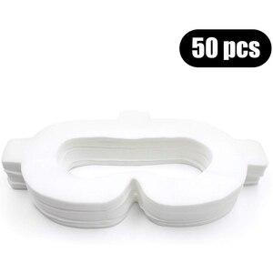 Image 2 - Amvr Vr الوجه غطاء مراتب مضاد للماء عالي الجودة غير المنسوجة النسيج المتاح النظافة قناع بالعصي السحرية ل Oculus الذهاب (50 قطعة)
