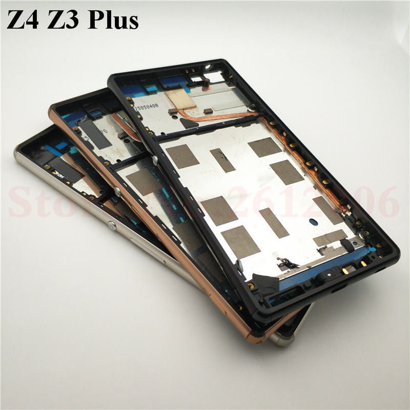 For Sony Xperia Z4 Z3 Plus E6553 E6533 Replacement Housing Metal Middle Frame With Dust Plug And Adhesive