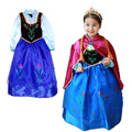 Retail new girls dress 2015 elsa & Anna princess dress, girl party dress, children's European and American fashion dress.