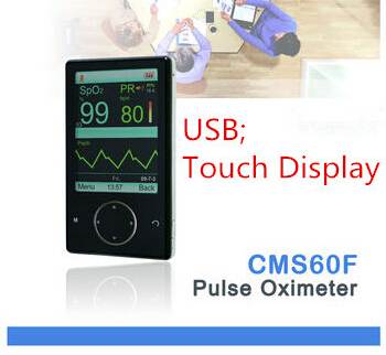 CONTEC CE Passed CMS60F Touchscreen Pulse Oximeter Free SpO2 Probe PR Blood Oxygen Monitor 2.8'' TFT Color Display