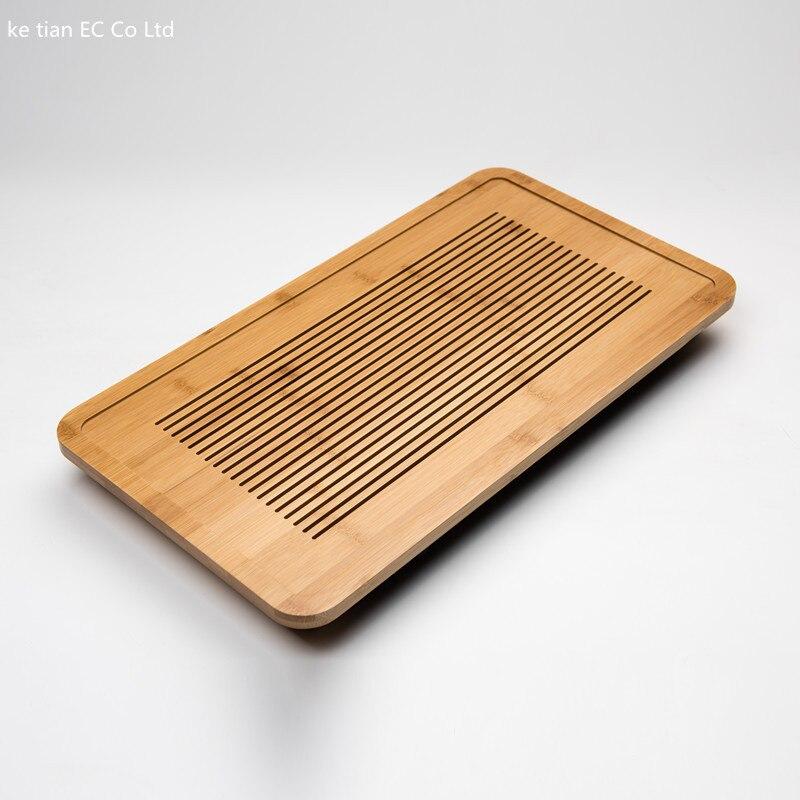 Plateau à thé en bambou solide plateau à thé en bambou kung fu outils à thé pour tasse théière artisanat plateau 49*26.5*4 cm environnement nature bambou