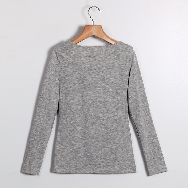 Kobiety Koszulki Z Długim Rękawem Topy Hollow Out Bandaż Swetry Slim Sexy Topy Tees Blusas plus size LJ4515M Femme 9