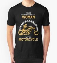 Frau Mit Einem Motorrad T Shirts Männer mode-t-shirt mann Camisa O Hals Herren Tops T-Shirts Freies Verschiffen Tees hemd
