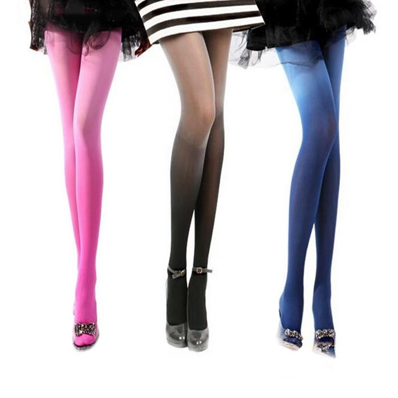 Women Fashion Velvet Gradient Color Tights Pantyhose Colorful Tights Stocking Z