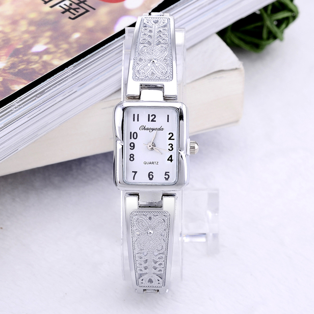 luxury silver watch women watches bracelet women's watches fashion ladies watch